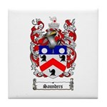 Saunders Coat of Arms Tile Coaster