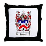 Saunders Coat of Arms Throw Pillow
