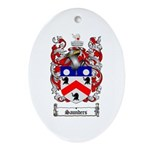 Saunders Coat of Arms Oval Ornament
