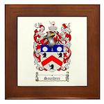 Saunders Coat of Arms Framed Tile