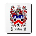 Saunders Coat of Arms Mousepad