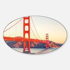 Golden Gate Bridge Sticker (Oval)