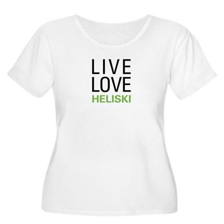 Live Love Heliski Women's Plus Size Scoop Neck T-S