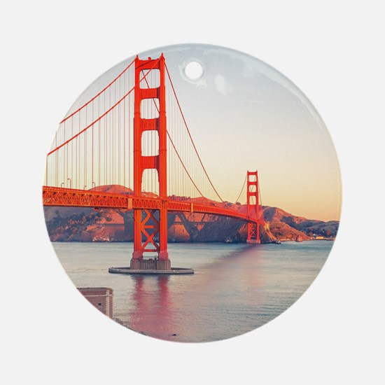 Golden Gate Bridge Round Ornament
