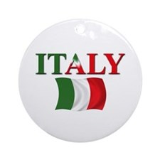 Italian Flag Ornament (Round)