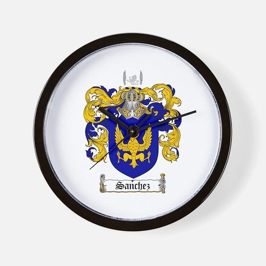 Sanchez Coat of Arms Wall Clock