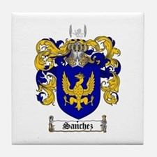 Sanchez Coat of Arms Tile Coaster