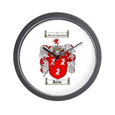 Ryan Coat of Arms Wall Clock