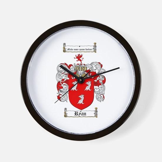Ryan Coat of Arms Wall Clock