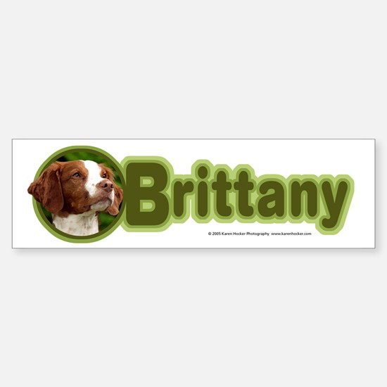 Brittany Bumper Bumper Bumper Sticker