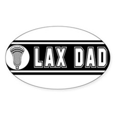 Lacrosse LaxDad Oval Sticker