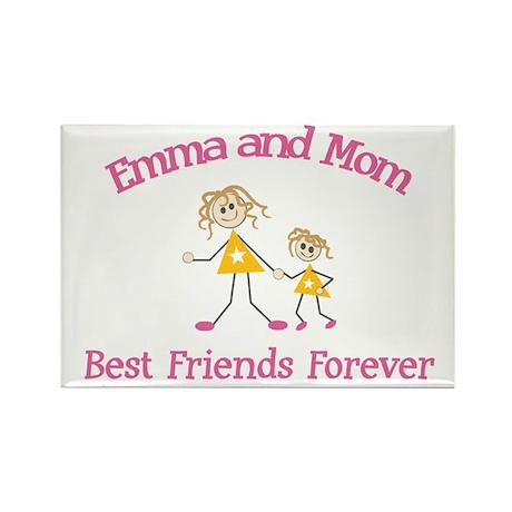 Emma & Mom - Best Friends For Rectangle Magnet
