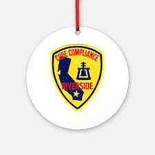 Riverside Code Enforcement Ornament (Round)
