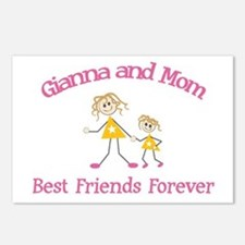 Gianna & Mom - Best Friends F Postcards (Package o