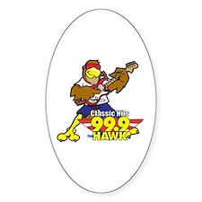 Hawk w/ Guitar Oval Decal