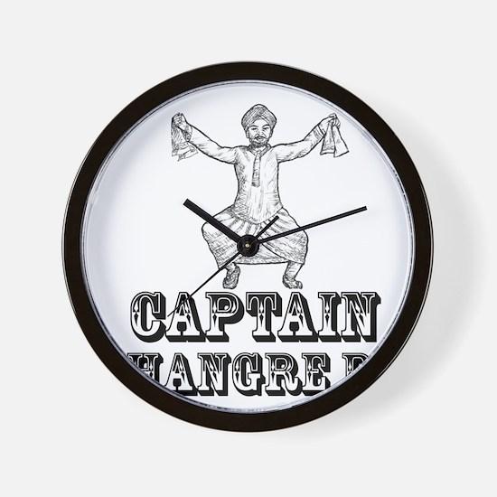 Captain Bhangre Da Wall Clock