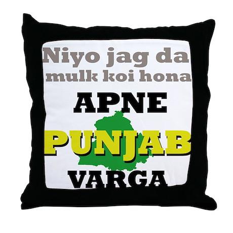 Apne Punjab Varga Throw Pillow