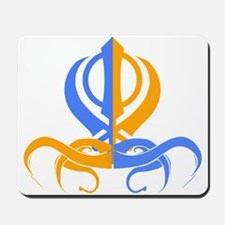 Khanda Orange and Blue Mousepad