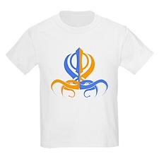 Khanda Orange and Blue T-Shirt