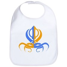 Khanda Orange and Blue Bib