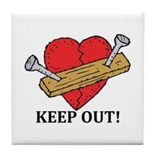 Valentine's Day Keep Out! Tile Coaster