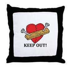 Valentine's Day Keep Out! Throw Pillow
