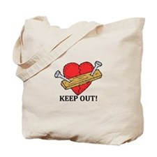 Valentine's Day Keep Out! Tote Bag