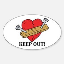 Valentine's Day Keep Out! Oval Decal