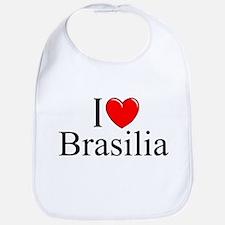 """I Love Brasilia"" Bib"