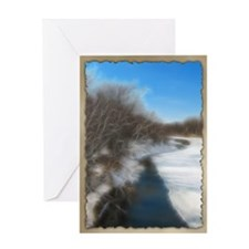 PhotoArt Snowy River Greeting Card