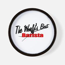 """The World's Best Barista"" Wall Clock"