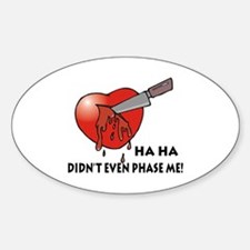 Funny Anti-Valentine's Day Gi Oval Decal