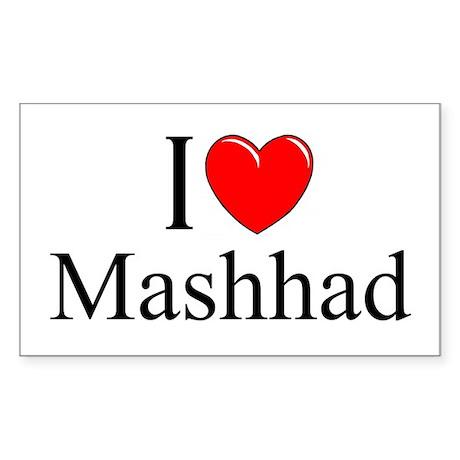 """""""I Love Mashhad"""" Rectangle Sticker"""