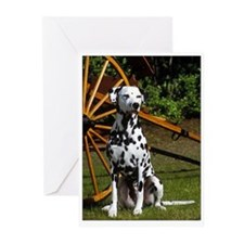 Sitting Dalmatian & Cart Greeting Cards