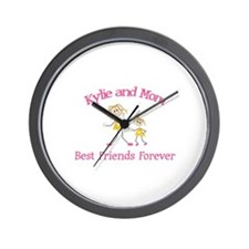 Kylie & Mom - Best Friends Fo Wall Clock