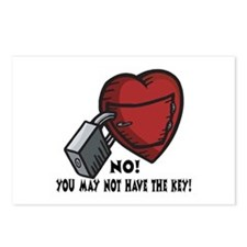 Valentine's Key to Heart Postcards (Package of 8)