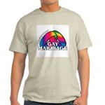 I SUPPORT GAY MARRIAGE Ash Grey T-Shirt