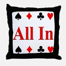 The Texas Holdem Poker Store Throw Pillow