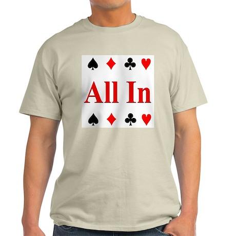 The Texas Holdem Poker Store Ash Grey T-Shirt