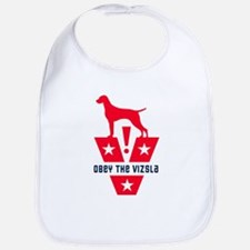 Obey the Vizsla! American Vizsla-Baby Bib