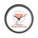 Pink Future Republican Elephant Wall Clock