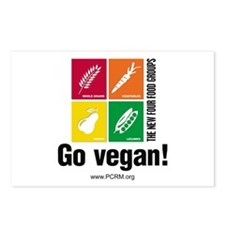 New Four Food Groups Postcards (Package of 8)