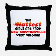 Hot Girls: New Martinsv, WV Throw Pillow