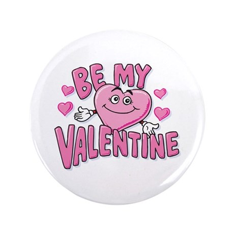 "Be My Valentine 3.5"" Button (100 pack)"