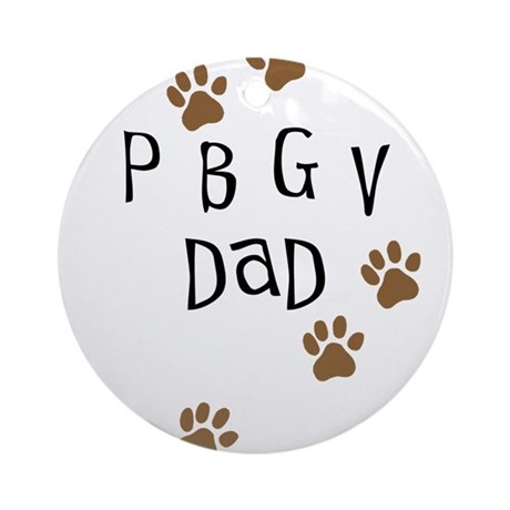 PBGV Dad Ornament (Round)