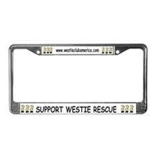 Nat'l Westie Rescue Gold Logo License Plate Frame