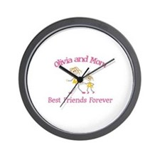 Olivia & Mom - Best Friends F Wall Clock