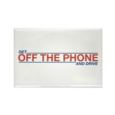 Get Off the Phone Rectangle Magnet (10 pack)