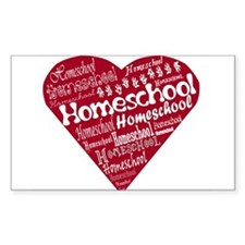Homeschool Heart Rectangle Decal