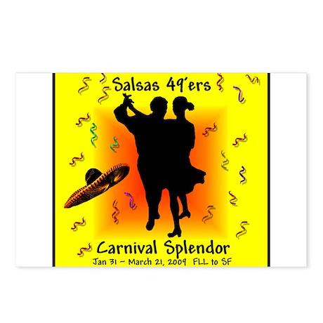 Carnival Splendor Salsas 49'ers Postcards (Package